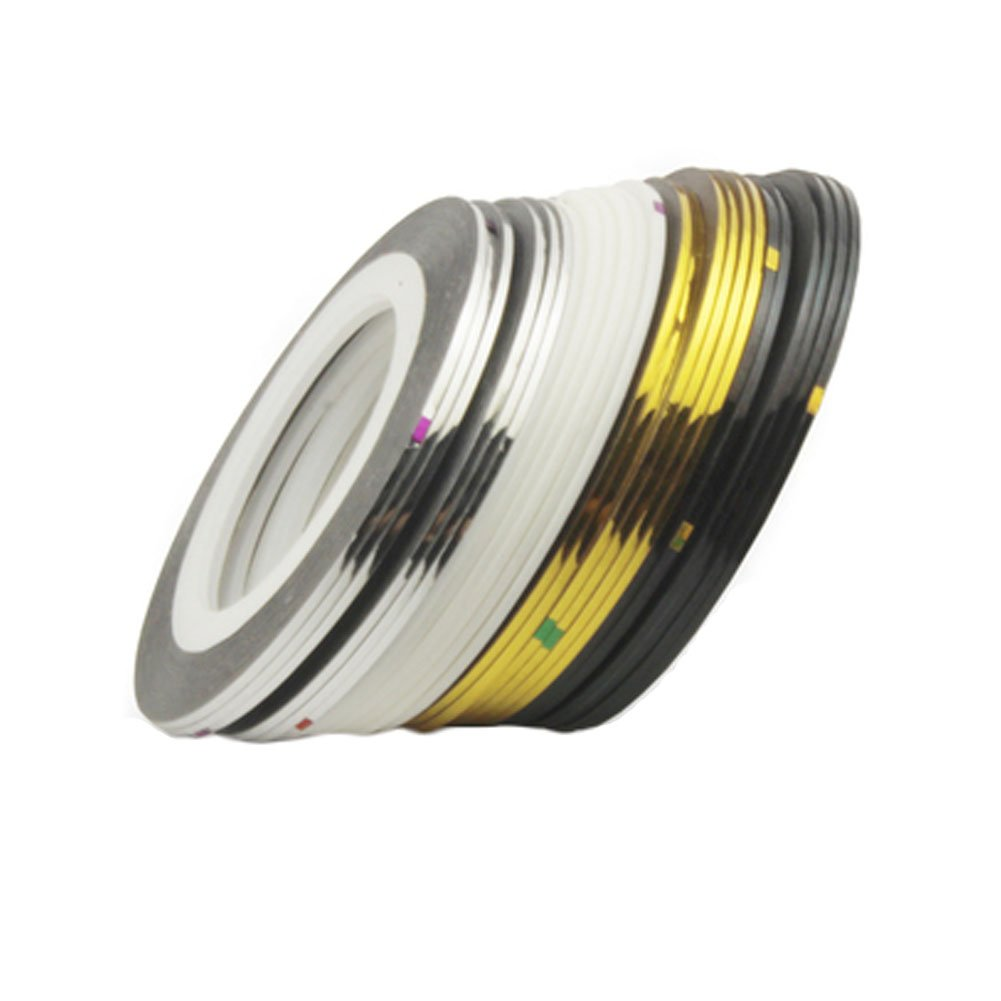 24Pcs Mixed Colors Rolls Striping Tape Line Nail Art Tips Decoration Sticker 24 by Kylin Express