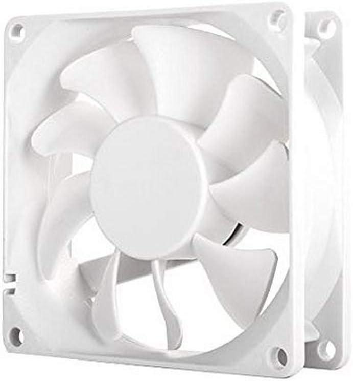 SilverStone SST-FM84 - Ventilador de refrigeración ajustable de 80mm para ordenador Serie FM, Alto flujo de aire, blanco: Amazon.es: Informática