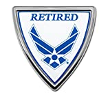 Elektroplate Air Force Retired Shield Chrome Auto Emblem