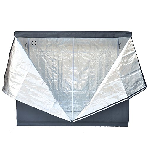 """51xs1T1verL - Grow Tent Indoor 8x4 Feet Not Include LED - Large Reflective Mylar Hydroponic/Hydro Waterproof Seedling Plant Growing Room for Grow Tents, Black 96""""x48""""x78"""""""