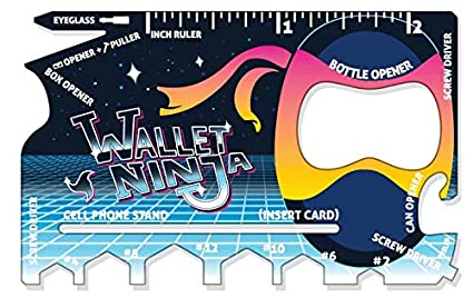 Limited Edition: RETRO Wallet Ninja - 18 in 1 Credit Card Sized Multitool (#1 Best Selling in the World)