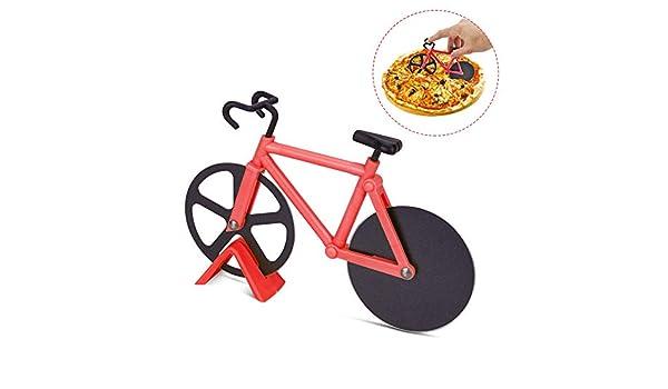 Gobesty Cortador de pizza para bicicleta, cortador de pizza de ...