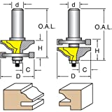 Woodtek 821005, Router Bits, Door Construction, Stile & Rail - Cabinet, Reversible Rail & Stile Bit Ogee W/Fillet 1/2'' Shk