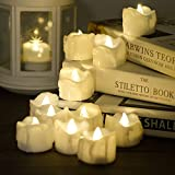 Toys : Timer Candles, 12pcs PChero Battery Operated LED Flameless Candles Flickering Tea Light, 6 Hours On and 18 Hours Off Per Cycle, Perfect for Birthday Wedding Party Home Decor - [Warm White]