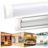 LED Batten Light T10 Tube Lamp Wall Lamps with Dust Cover Chandelier Strip Lights for Factories Workshop Bathroom Balcony Hallway Living Room Bedroom Dining Room Kitchen Supermarket 90CM 30W 4000K 1pc XYD