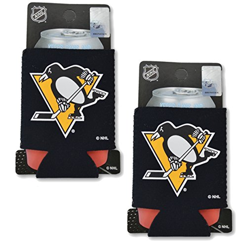 (NHL Fan Shop Authentic 2-Pack Insulated 12 Oz Can Cooler (Pittsburgh Penguins))