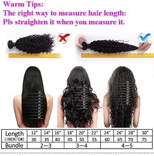 Amazon.com: Cierre de encaje de 3 piezas, cabello ondulado ...