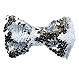 Bellecita Lovely Sequins Girl Bow Tie Hairclip Children's Decorations (Silver Color)