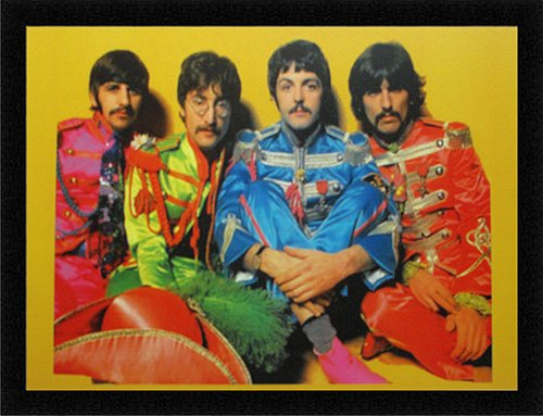 The Beatles Sgt. Pepper's Lonely Hearts Club Band Poster Framed