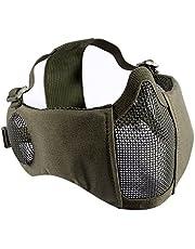 OneTigris Airsoft Opvouwbaar half masker mesh gezichtsmasker met gehoorbescherming