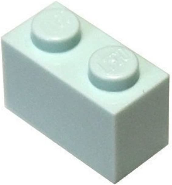 LEGO Parts and Pieces: Aqua (Mint Green) 1x2 Brick x20
