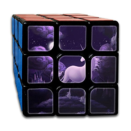 AVABAODAN Lonely Unicorn Rubik's Cube Custom 3x3x3 Magic Square Puzzles Game Portable Toys-Anti Stress For Anti-anxiety Adults Kids by AVABAODAN