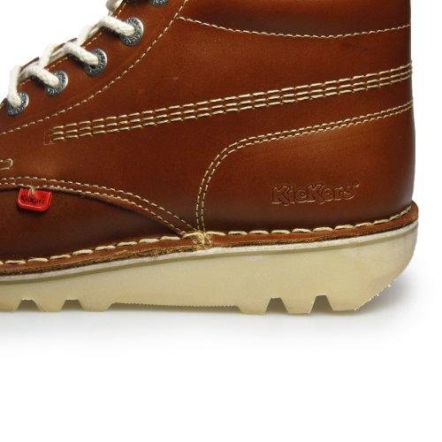 Kickers Kick Hi M Dark Tan Pelle Ankle Boots