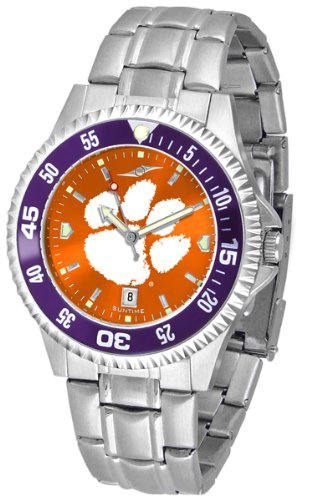 (Linkswalker Mens Clemson Tigers Competitor Steel Anochrome Bezel Watch)
