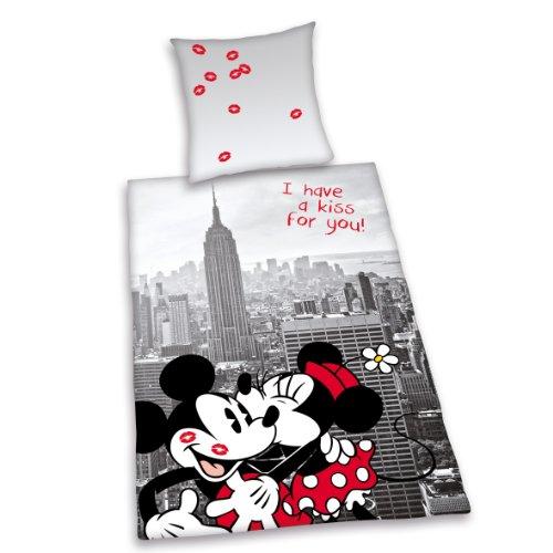 herding 487838077 st dte bettw sche disneys mickey mit minnie mouse new york kopfkissenbezug. Black Bedroom Furniture Sets. Home Design Ideas