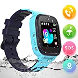 Smart Watch for Kids, SZBXD Waterproof Smartwatch with LBS/GPS Tracker Phone SOS Alarm Clock Camera Christmas Birthday Gift for 3-12 Year Old Boys Girls (Q15-blue)