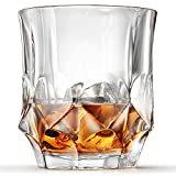 Ashcroft 2-Piece Imperial Whiskey Glass Set of 2 Old Fashioned, Lowball Glasses with Gift Box, Unique Lead Free Crystal for Scotch, Bourbon, Rum, Gin, by Ashcroft Fine Glassware