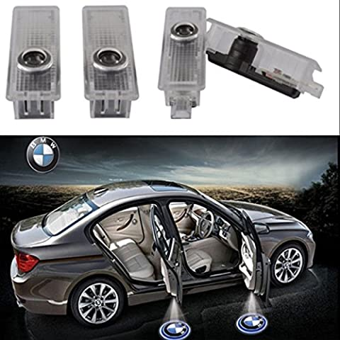 4PCS LED Door Step Courtesy Light Welcome Light Laser Shadow Logo Projector Lamp For BMW 1-Series E82 E87 F20 3-Series E90 E91 F30 5-Series E60 E61 F10 CNAutoLicht (Bmw Shadow Door Light)