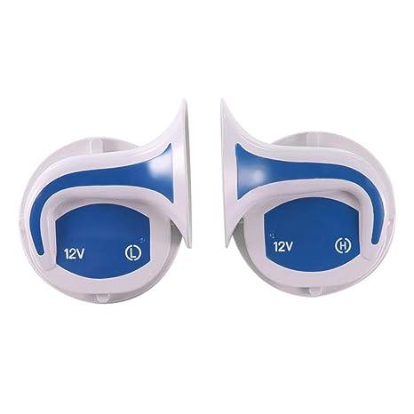 S-Auto-Spare - 2 altavoces para auto, bocina alta, alarma ...