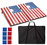 Best Cornhole Game Sets - Play Platoon American Flag Cornhole Boards with Cornhole Review