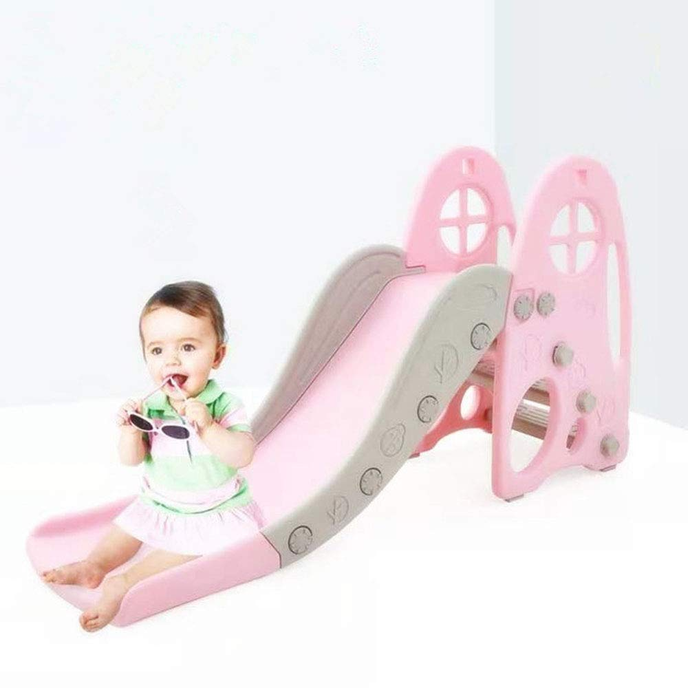 Thole Slide Climber for Boys Girls Indoor Outdoor Backyard Use First Slide Playground Plastic Play,Pink by Thole (Image #1)