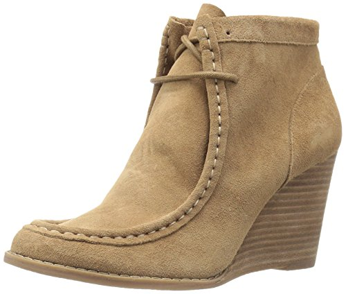 Lucky Brand Women's Ysabel Wedge Bootie,Sesame Suede,US 6.5 - Warehouse Brand