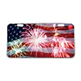 US Flag License Plate with Beautiful Design-11.8' X 6.1' inches-Black Trim