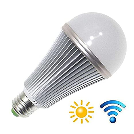 Bombilla LED E27, 12W, chip Samsung, Sensor movimiento y luminosidad, Blanco neutro: Amazon.es: Iluminación