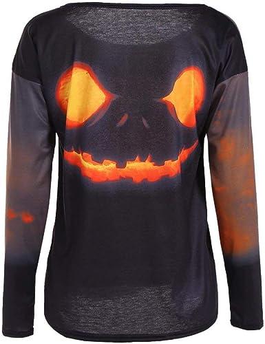 Zoylink Camisetas De Calabaza Para Mujer Disfraz De Halloween ...