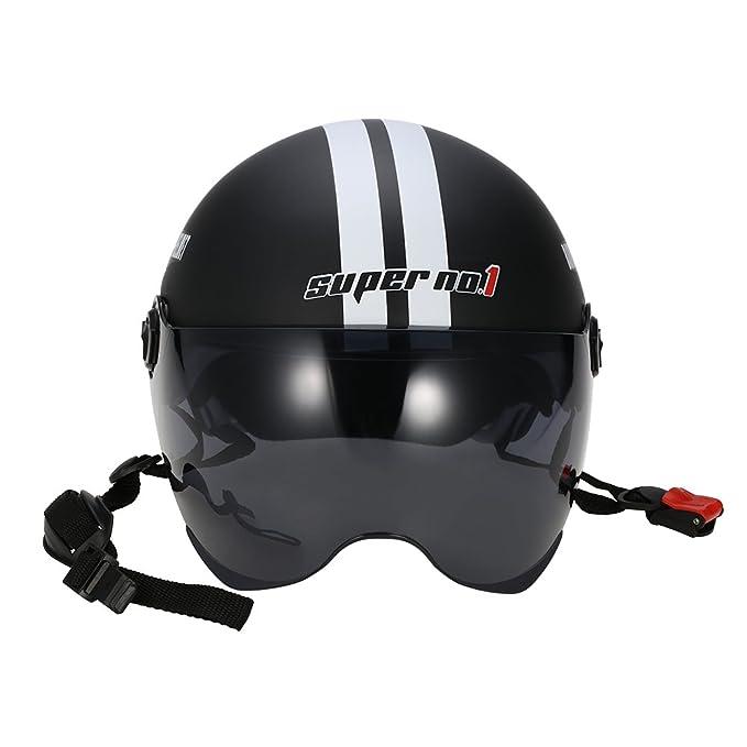 /Rueda dentada cabeza casco unisex Cinco de punta de estrella kkmoon Casco de motocicleta motorcycle Open Face Half Casco ajustable tama/ño/