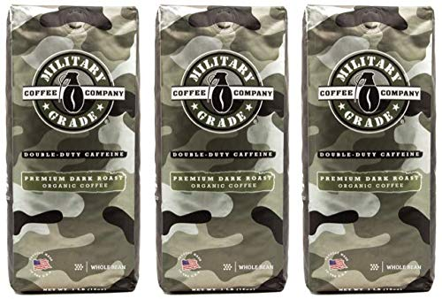 Military Grade Whole Bean Coffee, The Strongest Coffee On The Planet, USDA Organic – 16 Oz. (3 BAG)