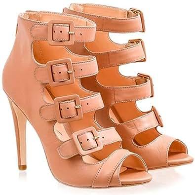Luiza Barcelos Pink Heel Sandal For Women
