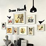 Home@Wall photo frame Photo Gallery Frame Set Of Wall With Usable Artwork And Family, Set Of 9 ( Color : C )