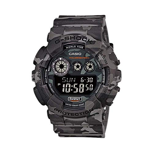 Casio Men's XL Series G-Shock Quartz 200M WR Shock Resistant Resin Color: Grey Camo (Model GD-120CM-8CR) ()