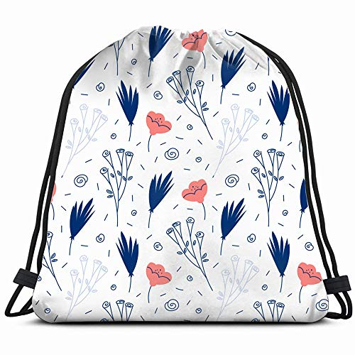 Floral Cute Nature Drawstring Backpack Gym Sack Lightweight Bag Water Resistant Gym Backpack For Women&Men For Sports,Travelling,Hiking,Camping,Shopping Yoga ()