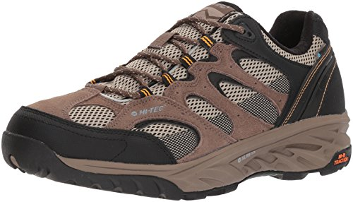 Hi-Tec Men's V-Lite Wild-Fire Low I Waterproof Hiking Shoe, Taupe/Dune/Core Gold, 115M Medium (Wildfire Shoes)