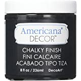 Deco Art Americana Chalky Finish Paint, 8-Ounce, Carbon