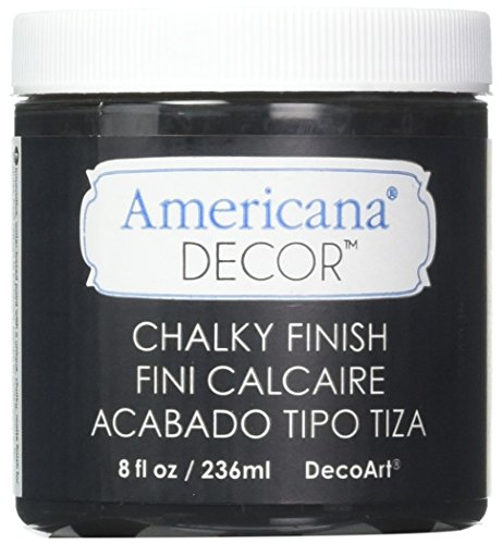 Deco Art Americana Chalky Finish Paint, 8-Ounce, (Carbon Art)