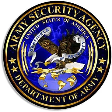 American Vinyl Round Army Security Agency ASA Seal Sticker Signal Intelligence Decal Logo