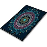 LB India Mandala Rug,Hippie Style Lotus Pattern Boho Area Rugs Carpet Floor Mats for Living Dining Room Bedroom Non-Slip Soft Touch Home Decor 39''x59''
