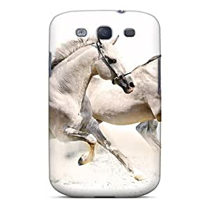 For NicoECx Galaxy Protective Case, High Quality For Galaxy S3 White Horses Skin Case Cover