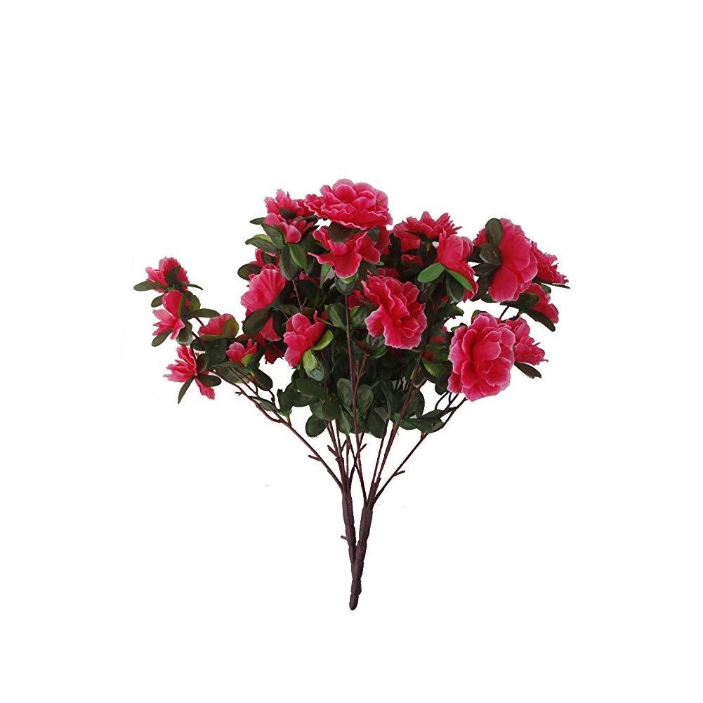 Beito comme Une v/éritable Simulation Azal/ée Multi Usage Fleurs Artificielles Faux de Carthame pour Mariage Maison Rose Rouge de d/écoration de Chambre