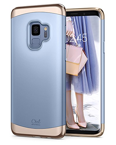 Ciel by CYRILL [Clair Collection] Galaxy S9 Case with Slim Protection and Two-Tone Detachable PC Frame for Samsung Galaxy S9 (2018) - Powder Blue