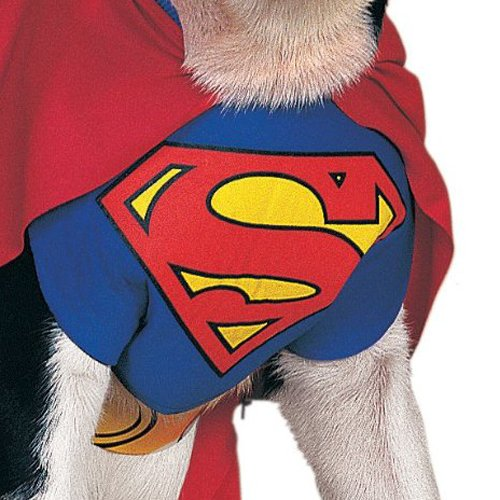 Rubie's DC Comics Pet Costume, Superman, Small by Rubie's (Image #1)