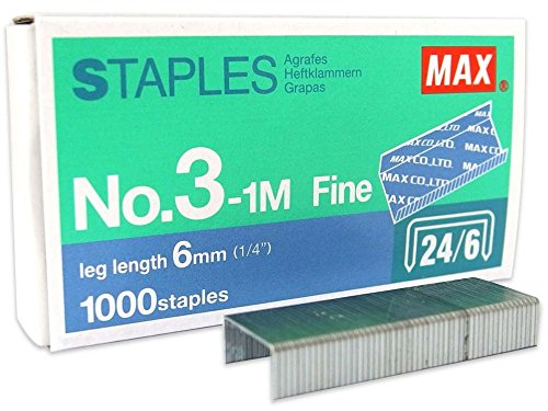 Staples MAX 1000pcs.3-1M (Staples Glass Desk)