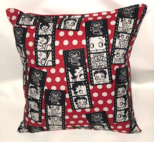 Betty Boop Pillow Classic Boop Pillow Film Boop Vintage Cartoon Pillow HANDMADE In USA Pillow is approximately 10