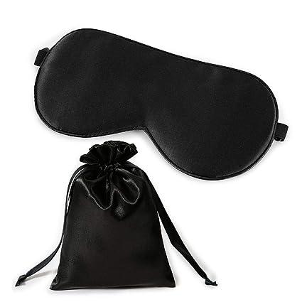 Máscara de dormir de seda Aolvo 100% pura de seda, máscara de sueño de seda ...