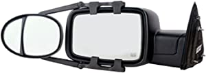 "Fit System (3990) Dual Lens Universal Towing Mirror with Ratchet Mount System, Pair, 5""x 7"""