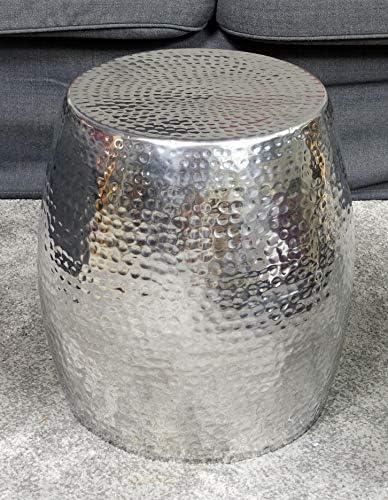 Nieuwste Collecties MichaelNoll salontafel woonkamertafel bijzettafel tafel hamerslag Orient aluminium zilver 40 cm nPSpxBt