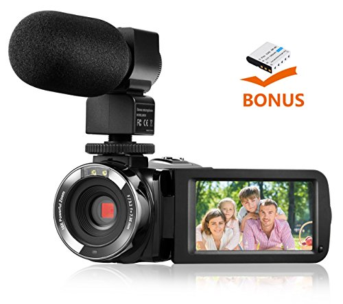 Camera Camcorder,Onshowy Remote Control Infrared Night Vision Handy Camera HD 1080P 24MP 16X Digital Zoom Video Camera with Microphone and 3.0